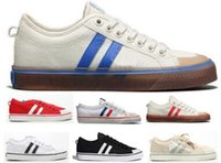 Wholesale massaging shoes prices resale online - Stan Smith Nizza Canvas Casual Shoes Mens Women Man Orange Lace Up Girls Low Price Str Fashion Luxury High Quality Athletic Shoes