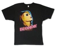 resimleri yeni gömlekler toptan satış-Blondie Neon Yüz Debbie Harry Görüntü Siyah T Shirt Yeni Resmi Bant Serin Rahat gurur t gömlek erkekler