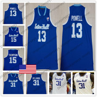 Wholesale men s basketball 13 for sale - Custom Seton Hall Pirates College Basketball Blue White Jersey Any Number Name Angel Delgado Michael Nzei Myles Powell Cale S XL
