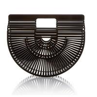 monedero de bambú al por mayor-diseñador del monedero del bolso de lujo BRW Beach bolso del estilo de bambú ratán bolsa de embrague diseñador utdoor paja femenina