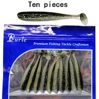 ingrosso tipi di esche da pesca-10pcs esche da pesca morbida esche di plastica dei ciprinidi Swimbait T-Type Paddle Tail realistica colori Lure pesca per la spigola trota Pike Walleye