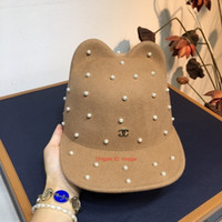 Wholesale rivets knitted cap resale online - 2019 New Fashion Snapbacks Sport Hats Ear Knight Hat Cashmere Fabric Knitted Rivet Decoration Baseball Caps