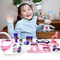 presentes bonitos dos cuidados venda por atacado-Clássico Doutor Brinquedos Com Caixa Fingido Bonito Role Play Nurse Médico Carry Case Kits Presentes Educacionais Brinquedo Para O Bebê Meninas Crianças