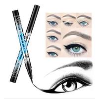 ingrosso sentiva gli occhi-1 Pz Pennarello Liquido Eyeliner Penna Eyeliner Impermeabile Non Fiorente Asciugatura Rapida Effetto Sfumato Eye Liner Per Donna (Nero Scuro)