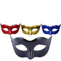 blaue maskerade masken für frauen großhandel-Frauen Fahion Venezianische Partei Maske Roman Gladiator Halloween Party Masken Karneval Maskerade Maske (Blau Rot Gold Silber Weiß Schwarz)