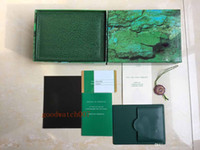 relógio de madeira de alta qualidade venda por atacado-Luxo Top venda de Alta Qualidade Relógio Verde Original Caixa De Madeira Caixas De Cartão Para Perpétuo 116660 116610 Cosmograph Relógios