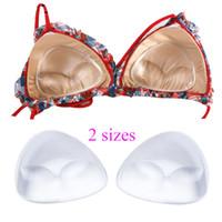 1ad63ea27b2 2Pcs=1Pair Silicone Triangle Bikini Swimsuit Bra Insert Pads Push Up Breast  Enhancer Removeable Invisable Women SwimwearBra Pads
