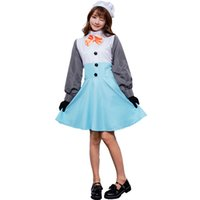 Wholesale maid accessories resale online - New Cosplay Halloween Costume M XL Snowman Halloween Costume Cosplay Winter Anime Snowman Maid Wear