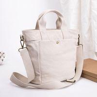 Wholesale cross shoulder cell phone bags for sale - Group buy Korean version of simple Japanese canvas tote bag female high capacity female student shoulder bag