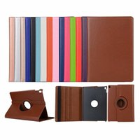 Wholesale free shipping ipad tablet online – Tablet PC for ipad case degree rotation smart stand PU leather for ipad air2 case for ipad5 mini4 retina