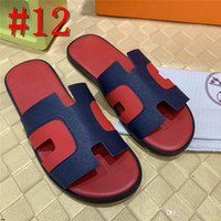 Wholesale brand designer shoes for men resale online - 18AS SUMMER MEN Genuine Leather Shoes SANDALS LUXURY Indoor Home Slipper Casual Sneakers For MENS Beach Flip Flops yetc1
