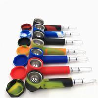 ingrosso strumenti per tubi da fumo-Sigaretta del commestibile E del commestibile del tubo dell'acqua del tubo dell'acqua del tubo di fumo del vaporizzatore del tubo di fumo di sette colori del silicone di sette colori