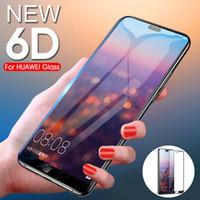 huawei p9 lite verre trempé complet achat en gros de-GVU 6D Verre Trempé Pleine Couverture Sur Le Film de Protection Ecran Pour Huawei P20 Lite P20 Pour Huawei P10 P9 Lite 2016 Plus Film De Verre