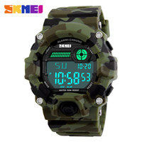 ingrosso cronografo sport acquatici-SKMEI 1197 Men Sport Digital Watch Outdoor Militray Army Orologi Water Resistant Alarm Clock cronografo da polso