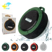 Wholesale C6 Speaker wireless Bluetooth Speaker Potable Audio Player Waterproof Speaker Hook And Suction Cup Stereo Music Player With Retail Package