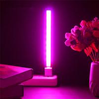 3w led ışık mavi büyümüş toptan satış-3 W / 14LED 5 W / 27 LED Büyümek Işık USB Kırmızı Mavi Hidroponik Bitki Büyüyen Işık Çubuğu Masaüstü Bitki Çiçek Büyüyen için DC 5 V