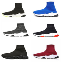 zapatos famosos mujer al por mayor-Libre de las mujeres de los hombres INS calcetín zapatos de los zapatos de París famosa con el tamaño de la textura blanca de diseño único calcetín de los zapatos 36-45