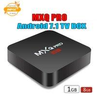 lecteur de films pc achat en gros de-1 PCS moins cher RK3229 MXQ PRO 4K Tv Box Ram 1G Rom 8G Android 7.1 tv box Stream Media Player Soutien 3D Films Gratuits