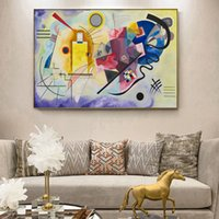 Wholesale wall art reproduction resale online - Yellow Red Blue by Wassily Kandinsky Canvas Paintings On The Wall Famous Artwork Reproductions Canvas Art Print Wall Decoration