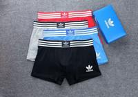 mezclar ropa interior al por mayor-ropa interior de algodón de los hombres 6pcs cortocircuitos de los boxeadores se mezclan los colores A01D SIN CAJA