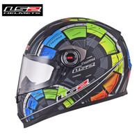 Wholesale ls2 racing helmets resale online - LS2 FF358 TECH Motorcycle Helmet Full Face Moto Racing Motorbike Helmet Bike Crash Motor Helm Casque Moto Helmets