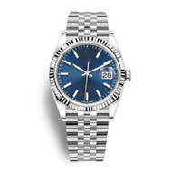 Wholesale mechanical watches for sale - Group buy Classic luxury men watch date just series MM Blue dial sapphire glass L stainless steel strap automatic mechanical movement Wristwatch