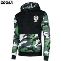 3d drucken armee männer großhandel-PLUS S-5XL Armee Grün Camouflage Männer Hoodie 3D Gedruckt Hoodies Streetwear ZOGAA Marke Pullover Hoody Kleidung F Versand