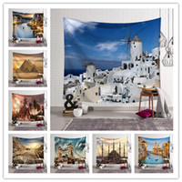 Wholesale architecture for sale - 150 CM World Architecture Tapestry Wall Hanging Mural Designs Beach Towel Shawl Yoga Mat Printed Tablecloth Party Wedding Decoration