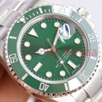 relojes al por mayor-Bisel de cerámica para hombre New Green Top 2813 Mecanismo automático automático de acero inoxidable Reloj deportivo Relojes automáticos Relojes de pulsera