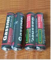 bateria de carbono de zinco venda por atacado-1200 pçs / lote 1.5 V baterias de zinco De Carbono R03P R03 UM4 bateria Super resistente para controles remotos