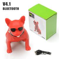 bluetooth drahtloser boombox großhandel-Für Aerobull drahtlosen Bluetooth Boombox mini beweglichen bulldog Lautsprecher Stereo tiefen Bass Sound Subwoofer für Telefon PC Spalte