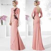 788fa63943d Wholesale petite formal dresses mother bride online - Modest Lace Appliqued Mother  of the Bride Dresses