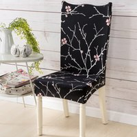 Superb New Spandex Elastic Printing Dining Chair Slipcover Removable Anti Dirty Kitchen Seat Case Stretch Chair Cover For Banquet Vc Short Links Chair Design For Home Short Linksinfo