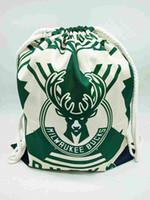спортивный стиль шнурок сумка рюкзак оптовых-Поклонники баскетбола футбольные бутсы Волейбол кулиской Открытый Сумки Футбол обучение Хранение Рюкзак Canvas школа мультфильм пляж сумка