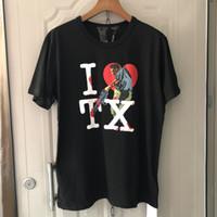 grandes hombres camisas de diseño al por mayor-19ss Big V Texas Electric Saw Madman Limit Camiseta de algodón de manga corta Hip-hop Rap Hombres y mujeres Diseñador camiseta Hfwptx277