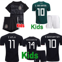 Wholesale green youth soccer resale online - New Mexico Kids Gold Cup Home Black Youth Boys CHICHARITO Soccer Jerseys Camisetas de futbol H LOZANO DOS SANTOS VELA RAUL Shirts