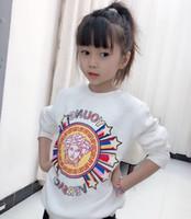 roupa das crianças venda por atacado-Frete grátis Bebê Meninos meninas de algodão crianças hoodies meninas chlid Roupas Crianças sweatershirts camisola hoodies tops de roupas infantis