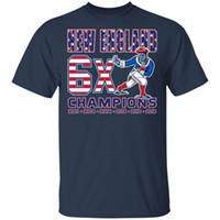 super bol femmes achat en gros de-2019 - T-shirt 6ème Super Bowl du Championnat Bleu Hommes-Femmes