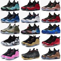 erkek kot ayakkabıları toptan satış-Erkek Penny Hardaway basketbol ayakkabıları Turuncu Siyah Altın Yeşil Habanero Denim Jeans Krom Beyaz posite köpükler bir pro sneakers ayakkabı