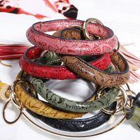 armband trends leder groihandel-Hot Einfache Große Leder-Armband Keychain Modetrend Tassel Schlüsselanhänger Schlüsselanhänger Schmuck