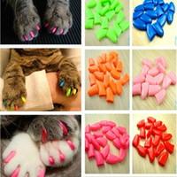 Wholesale pet cat soft paw nail for sale - Group buy Cat Nail Caps Soft Nail Caps For Dogs and Cats Paw Pet Claws Covers XS S M L XL XXL With Adhesive Glue