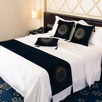 otel avrupası toptan satış-Lüks Avrupa Kadife Baş Sıcak Sondaj Rhinestone Koltuk Yastık Kapak Ev Otel odası yastık kılıfı Runner Yatak