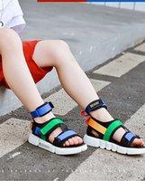kriechpflanzen sandalen großhandel-Freizeit Jungen Schuhe Sport Sandalen Sommer Schuhe Creepers Komfortable Punk Traniers für Kinder
