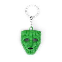 lanterna do keychain venda por atacado-Cosplay Máscara Keychain Engraçado Comédia Torcida Gigante Pingente de Lanterna Chaveiro Anéis de Metal Titular Chave Do Carro Acessórios Chaveiro