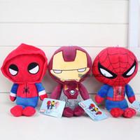 örümcek adam peluş oyuncak bebek toptan satış-Yeni Arived Örümcek-Adam Homecoming Peluş Bebek Oyuncaklar çocuk Hediyeler Için Karikatür Örümcek Adam Demir Adam Doldurulmuş Oyuncaklar
