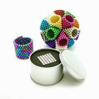 bola magnética 5mm al por mayor-Goood4store colorido de la bola 216 PC 5mm neo perlas magnéticas del cubo del neodimio bolas mágicas imán de descompresión regalo de Neokub pelotas de juguete para niños