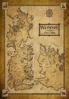 kartengehäuse großhandel-Game Of Thrones Häuser Karte Westeros / WELTKARTE Art Silk Poster 24x36inch 24x43inch 4865