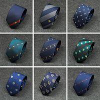 официальный галстук для мужчин оптовых-Новый сорт Мужчины Tie Мода диагональные полосы личности вышивки Color Matching Bee Pattern Wild Tie Мужчины формальный