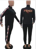 Wholesale flannel yoga pants resale online - Designer tracksuit Fashion Sport Brand Womens tracksuit Sport Sweatshirt Casual Women Hoodies Pants Zipper Jacket Clothing