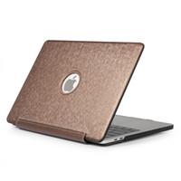 luft 11.6 großhandel-Fall für 2018 neue Macbook Air Pro 11.6 12 13.3 Hochwertige PU-Leder-Laptop-Hüllen für MacBook Air Pro Retina 11 12 13 volle Schutzhülle